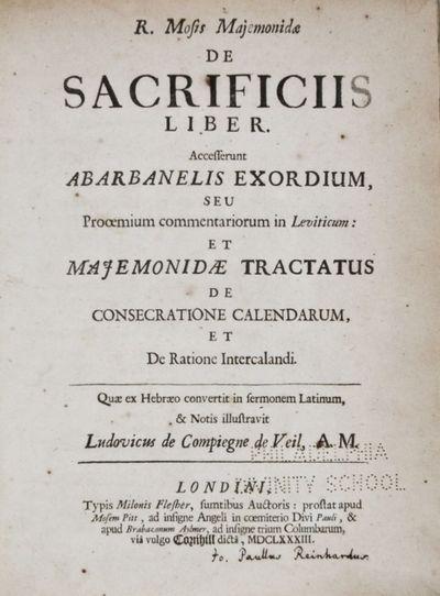 London: Typis Milonis Flesher, sumptibus auctoris, prostat apud Mosem Pitt, & apud Brabazonum Aylmer...