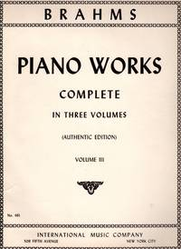 Piano Works, Volume III