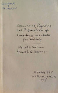 Occurrence, Properties, and Preparation of Limestone and Chalk for Whiting