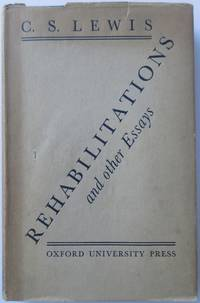 Rehabilitations and Other Essays by  C S LEWIS - 1st Edition - 1939 1939 - from Rainford and Parris Books - PBFA (SKU: 200414)