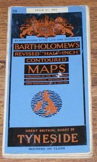 "image of Tyneside - Bartholomew's Revised ""Half-Inch"" Contoured Maps, Great Britain Sheet 39"