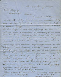Autograph letter signed from the agent of the New York Iron Bridge Co., to George W. Strong of Rutland Vermont, who was involved with the Rutland and Washington Railroad Company