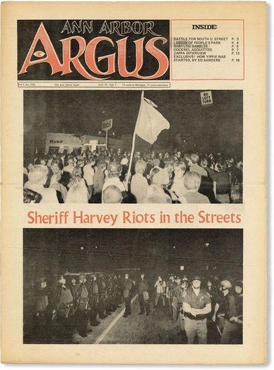 Ann Arbor: Ann Arbor Argus, 1969. First Edition. Tabloid (39.25cm); photo-illustrated newsprint wrap...
