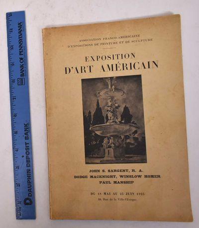 Paris: Association franco-americaine d'expositions de peinture et de sculpture, 1923. Paperback. VG-...