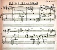 Duo for Cello and Piano [1971 SCORE and PART]