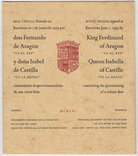 Royal Decree, signed at Barcelona June 1, 1493 by King Ferdinand of Aragon
