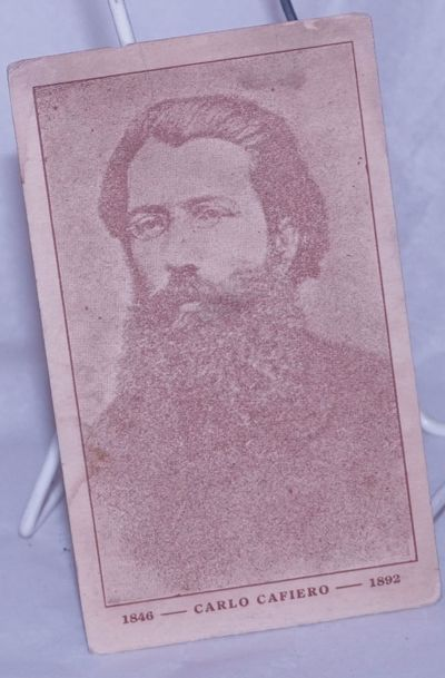 n.p., n.d.. Unused postcard with portrait of the anarchist, lightly worn, evenly toned, small dampst...