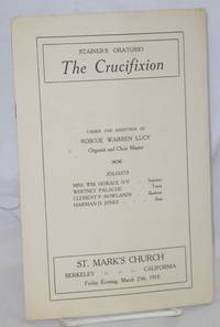 Stainer's Oratorio The Crucifixion March 25, 1910