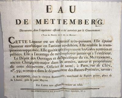 Eau de Mettemberg.
