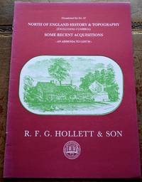 R F G HOLLETT & SON Occasional List 61 North Of England History & Topography