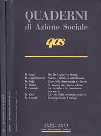 QAS Quaderni di azione sociale Anno 1992 n. 88, 89 - 90