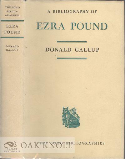 London: Rupert Hart-David, 1969. cloth, dust jacket. Pound, Ezra. thick 8vo. cloth, dust jacket. 454...