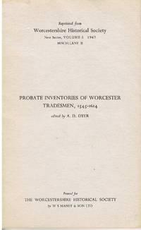 Probate Inventories of Worcester Tradesmen, 1545-1614