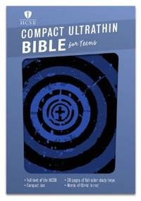 HCSB Compact Ultrathin Bible for Teens, Blue Vortex LeatherTouch