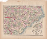 New Rail Road and County Map of North Carolina