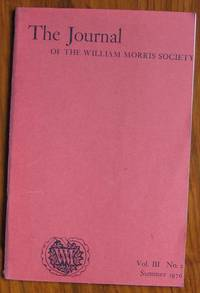 The Journal of the William Morris Society Volume III Number 2 Summer 1976