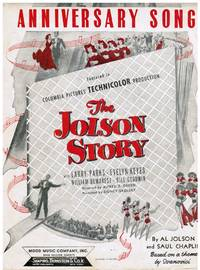 image of AL JOLSON MUSIC: Anniversary Song, Back in Your Own Back Yard, I'd Climb the Highest Mountain if I Knew I'd Find You