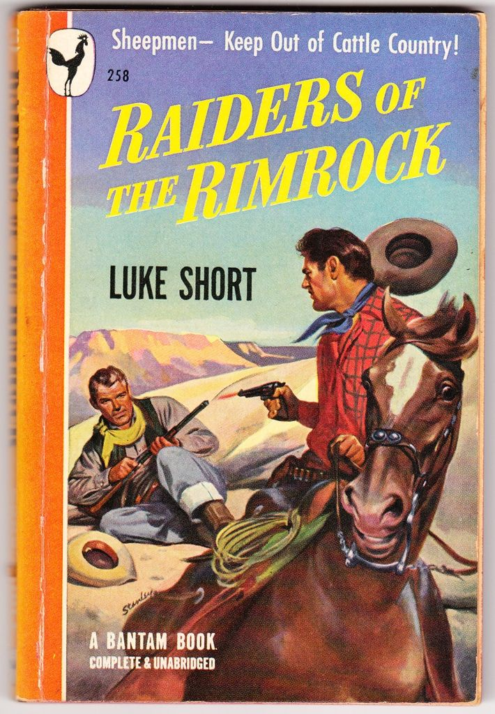 Western Book Cover Art : Raiders of the rimrock a vintage western with great cover