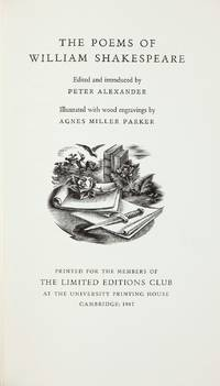 THE POEMS OF WILLIAM SHAKESPEARE