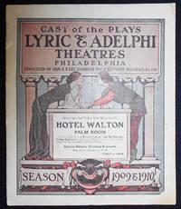 image of Lyric_Adelphi Theatres Playbill 1910: