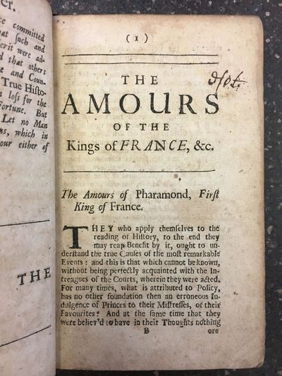 London: printed for Henry Rhodes at the Star, 1695. First English Edition. Hardcover. Octavo, , 228,...