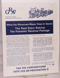 image of What the showcase mayor does in secret: The real story behind the Feinstein revenue package