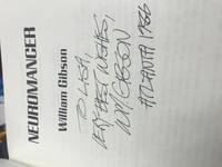 Neuromancer by William Gibson - Signed First Edition - 1986 - from Maxwell's House of Books (SKU: 039687)