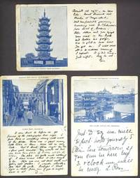 Shanghai, 3 postcards sent by a photographer in Shanghai to his family in Scotland