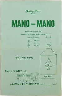 image of BOWERY PRESS PRESENTS MANO-MANO