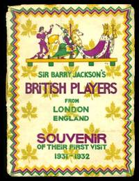 image of SIR BARRY JACKSON'S COMPANY OF BRITISH PLAYERS FROM LONDON ENGLAND TO THE DOMINION OF CANADA 1931 - 1932
