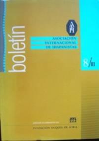Boletín. Asociación Internacional de Hispanistas. 8/ 01