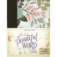 KJV, Beautiful Word Bible, Cloth over Board, Multi-color Floral, Red Letter Edition: 500...