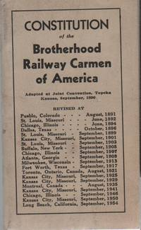 CONSTITUTION OF THE BROTHERHOOD RAILWAY CARMEN OF AMERICA