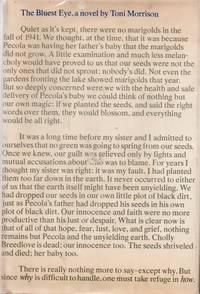 The Bluest Eye by MORRISON, Toni - 1970