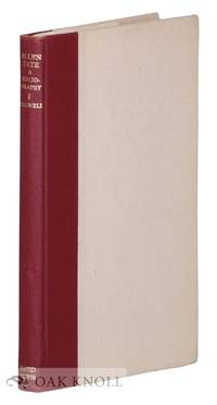ALLEN TATE: A BIBLIOGRAPHY