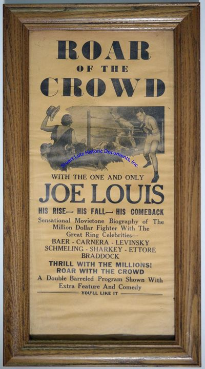 JOE LOUIS (1914-1981). The son of a cotton picker, Louis's fascination with boxing came after his ...