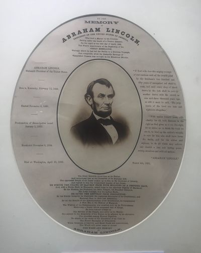 TO THE MEMORY OF ABRAHAM LINCOLN,...