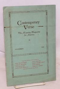 image of Contemporary verse: all-poetry magazine for America: volume ix, number 11, November