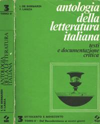Antologia della letteratura italiana. Testi e documentazione critica vol.III tomo II