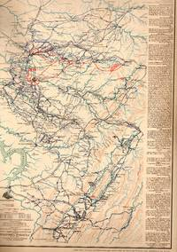 MAP: 5 Section Maps of the Routes of a Raid Made By Cavalry Under P.H. Sherman Including Central...