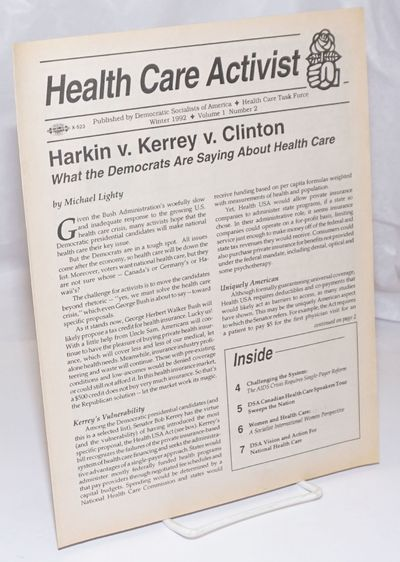 New York: Democratic Socialists of America Health Care Task Force, 1992. 7p., wraps, evenly toned el...