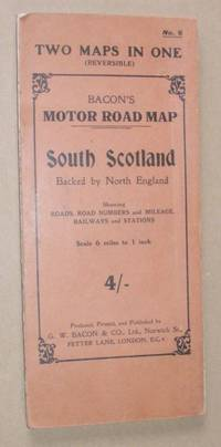 Bacon's Motor Road Map No.6: South Scotland / North England, showing roads, road numbers and...