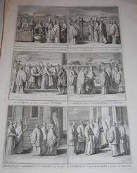 La Consecration du SEl et de lÕEau, pour benir la premier Pierre...LÕEveque fait le...