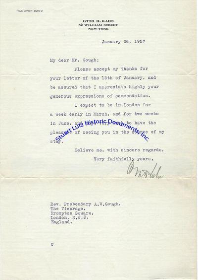 OTTO KAHN (1867-1934). Kahn was a Jewish-American investment banker, railroad magnate, and philanthr...