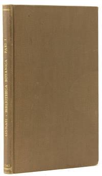 Bibliotheca botanica recensens libros plus mille de plantis huc usque editos, secundum systema auctorum naturale in classes, ordines, genera et species dispositos, additis editionis loco, tempore, forma, lingua caet ... Pars 1