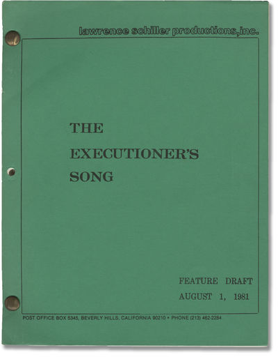 Hollywood: Lawrence Schiller Productions, 1981. Feature Draft script (television equivalent of a Sho...