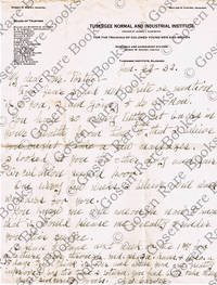 Autograph Letter Signed on Tuskegee Institute Stationery 1932