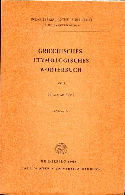 Heidelberg: Carl Winter, 1963. Paperback. Very good. 481-576pp. Wraps tanned, else very good.