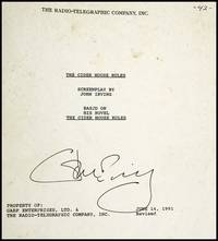 The Cider House Rules [Early Screenplay, Signed by Irving]