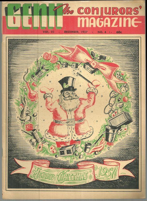 GENII THE CONJURORS' MAGAZINE DECEMBER 1957, Genii Magazine